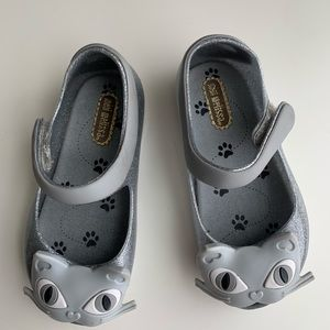 Mini Melissa Gray Cat Girls Toddler Shoes Size 7